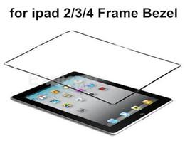 Adhesivo de bisel online-Original nuevo bisel medio marco medio de plástico con adhesivo negro blanco para Apple iPad 2 3 4 marco bisel 500pcs / Lot