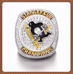 Wholesale NewCollection Edition Christmas Gift Sports Series Jewelry NHL Stanley Cup Ring Pittsburgh Penguins Championship ring