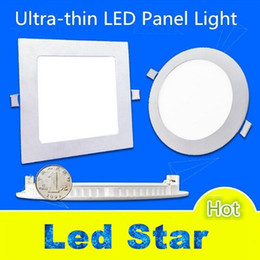 "Wholesale Led Ceiling Lighting Panels - 4"" 5"" 6"" 7"" 8"" Led Panel Lights 9W 12W 15 18W 25W Dimmable Led Slim Ceiling Lights AC 110-240V Including Drivers"