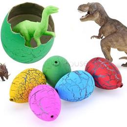 Wholesale Boys Dvd - 60PCS Riverstones Water Magic Dino Egg Hatching Growing Dinosaur Cute Children Kids Toy For boys 67 dvd flying frozen