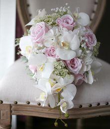 Wholesale Wedding Bouquet Bridesmaid - modabelle 2018 Hand Made Artificial Bridesmaids Flowers Brides Bouquet Bridal Wedding Bouquet 2018 Hand Holding Wedding Flowers