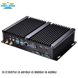 Wholesale Computer 1tb - Partaker Intel Core i5 4200U LAN industrial Mini Fanless PC Rugged PC Mini Computer With wifi300M