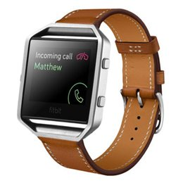 Wholesale Leather Bands For Bracelets Wholesale - Wholesale-Feitong New Arrival High Quality Luxury Genuine Leather Watch band Wrist strap For Fitbit Blaze Smart Watch