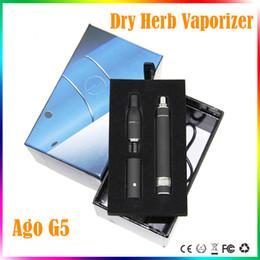 Wholesale G5 Vape Pen - dry herb vaporizer Ago G5 herbal kit vape mod pen herbal vaporizer starter kits vaporizer wind proof dry herb Ago G5 pen kits