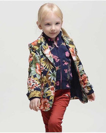 Wholesale Small Suit Coat Children - Wlmonsoo small children's clothing suits in the spring and autumn autumn wear small suit children floral leisure coat ZJ027