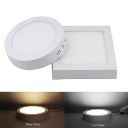 Wholesale Free Pc Drivers - Newest 9W 15W 25W Round Square Surface Mounted LED panel light LED Ceiling down lamp kitchen AC 85-265V+Driver free shipping