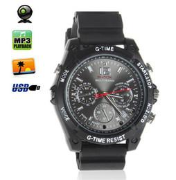 Wholesale Video Wrist Watches 32gb - 32GB HD 1080P Spy Camera watch Waterproof Hidden Camera and Night Vision Audio Video Voice Recorder Mini DV DVR Camcorders Wrist Spy Watch