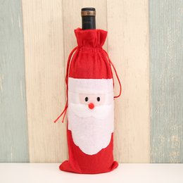 Wholesale Wholesale Candle Gift Bags - Santa Claus Red Wine Bottle Bag Christmas Decorations Articles Multi Function Champagne Cover Gift Bags Hot Sale 2 7jb J