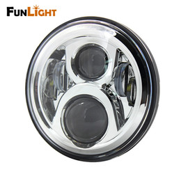 """Wholesale Motorcycle Detailing - 7"""" LED motorcycle headlight Lamp Fit Details about Cafe Racer Bobber Custom LED Phare Headlight Motos for Honda CB Classic"""