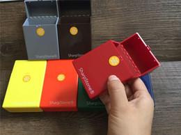 Wholesale Lighter Cigarette Case Box Holder - Brand luxury Full Pack 20 Pieces SharpStone Cigar Cigarette Sharp Stone Cigarette Holder Case lighter box case mix colors