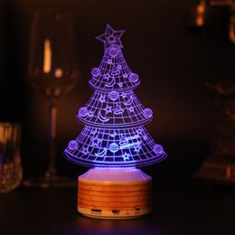 Wholesale I Touch Mp3 - Gift Table Lamp Suitable 3D Wireless Bluetooth Speaker For Bedroom Living Room Office For Christmas Gift Tree Baymax I LOVE U Rose Bear