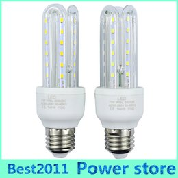 Wholesale E14 Candle Led 7w - 100PCS E27 2835 SMD Led Lamps 85-265V 7W U shaped LED Lights Corn Led Bulb Christmas Chandelier Candle Lighting 360 degree