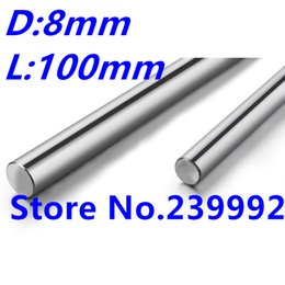 Wholesale X Axis Linear - Wholesale- 2pcs 8mm 8x100 linear shaft 3d printer 8mm x 100mm Cylinder Liner Rail Linear Shaft axis cnc parts