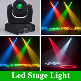Wholesale Stage Lighting Moving Heads - LED 10W 30W spots Light DMX Stage Spot Moving 8 11 Channels 8colors Mini LED Moving Head Fast Shipping