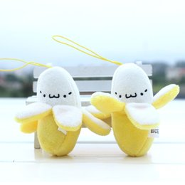 Wholesale Cute Banana Cartoon - 7cm Cute Banana toy Christmas Birthday Gift,Soft plush Stuffed Fuzz Banana Fruit Doll, Toy for cartoon Bouquet