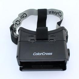 "Wholesale Dhl Virtual Video Glasses - New Cheap Colorcross Google Cardboard Virtual Reality 3D Glasses Video VR 3D Glasses for 4"" to 5.6"" Smartphone DHL"