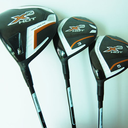 Wholesale Golf Complete Sets - New Left handed Golf clubs X2 HOT Golf wood set Driver+3 5 Fairway woods with Graphite Golf shaft headcover Wood clubs Free shipping