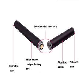 Wholesale E Smart Clearomizer - Hot selling 180mah 210mah 280mah 808D Atomizer E-smart clearomizer battery Concentrate oil 808D thread vape pen mini rechargeable battery
