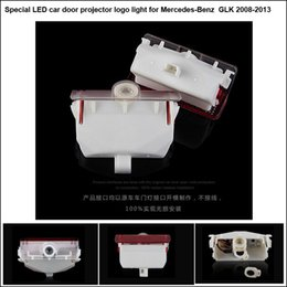 Wholesale Mercedes Welcome - 2pcs per set hot sell car door projector ghost shadow courtesy car door welcome logo light for mercedes-benz GLK Class 2008-2013