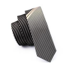 Wholesale Male Soles - Hot Sole !Men Silk Business Formal Tie Party Club Solid Necktie 5.5cm Gray Stripes Korean Male Casual Narrow Ties E-211