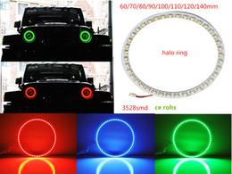 Wholesale Headlight Led Ring - 60 80 90 120 130 140mm LED Angel eyes ring SMD 3528 1210 Universal Car Auto Headlight LED halo ring DC12V