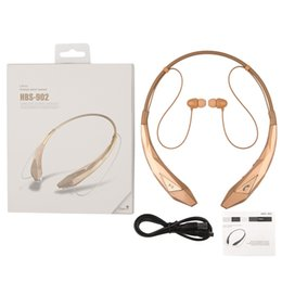 Wholesale High Fidelity Sound - free shipping HBS-902 CSR4.0 bluetooth version in ear type sport wireless neckband headset with stereo high fidelity sounds effect in retail