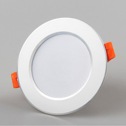 Wholesale Epistar Chip Led Downlight - Led Downlight 3W 5W 7W 9W 12W Round Panel lamp AC85-265V white warm white LED Recessed Ceiling Light For Home Decoration epistar chip