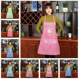 Wholesale Order Mixed Kitchen - Good A++ Custom fashion cotton cute lattice kitchen anti-oil waterproof sleeveless apron clothing A009 mix order as your needs