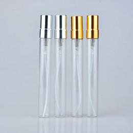 Argentina Venta al por mayor 300 unidades / lote 10 ML Mini botella de perfume recargable de cristal portátil lindo con el rociador de aluminio vacío cosmético Parfum Vial para el viaje Suministro
