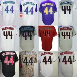 Wholesale Road Fashion - 44 paul goldschmidt Arizona Jersey Men Fashion Stitched Baseball Jerseys Cheap Home Road White Red Black Grey