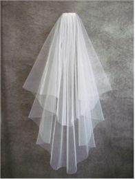 Argentina Nuevo velo nupcial simple 2T Bridal Veil + Comb Elegante blanco marfil nupcial velo por encargo accesorios de boda envío gratis Suministro