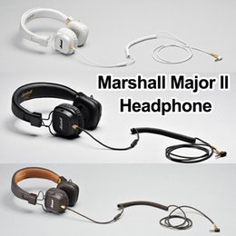 Wholesale Dj Headsets - Marshall Major II Bluetooth Headphones with Mic Deep Bass DJ Hifi Headset Professional Studio Monitor Noise Cancelling Sport Earphone
