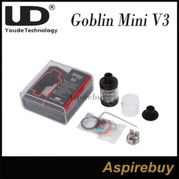 Wholesale Advanced System - Youde UD Goblin Mini V3 RTA Rebuildable 2ML Tank Atomizer with 2 RBA Deck Advanced Goblin Mini Airflow System Top Filling Tank 100%Authentic