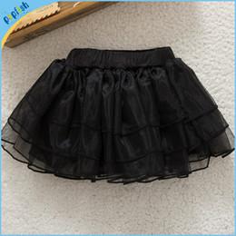 Wholesale Ruffle Petti Dress - 5 colors christmas tutu skirts baby infant organza skirt kids plain color ruffle petti skirt birthday dress princess skirts