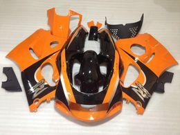 Wholesale Suzuki Gsxr 1997 - 4 Free gifts ABS Full Fairings kit for SUZUKI SRAD GSXR 600 750 1996 1997 1998 1999 2000 fairing set gsxr600 gsxr750 96-00 orange black