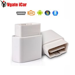 Wholesale Elm327 Switch - Wholesale-2016 New ELM327 Vgate Bluetooth iCar OBDII ELM327 iCar Bluetooth Vgate with Power Switch OBD Diagnostic Interface Free Shipping
