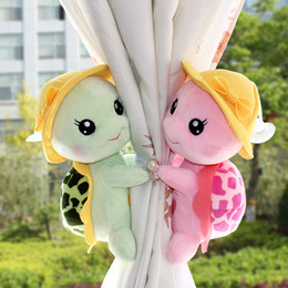 Wholesale Curtain Tie Back Clips - Baby Kids Toddler Child Infant Nursery Bedroom Animal Cartoon Turtle Window Curtain Tieback Tie Back Decor Holder Buckle Holdback Hooks Clip
