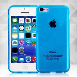 Wholesale Iphone 5c Case Jelly - 9 Colors! New Clear Transparent Jelly Gel Rubber TPU Back Case Protective Cover Skin For iPhone 5C 1-east