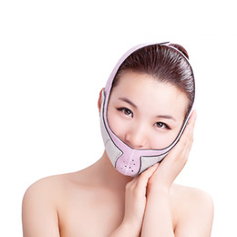 Wholesale Chin Massage - free shipping Thin Face Mask Slimming Bandage Double Chin Face Belt health care weight loss products massage face cream belt