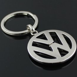 Wholesale Vw Logo Keychain - 5pcs lot Fashion Metal Car Logo key ring keyring keychain key chain for volkswagen vw auto pendant Chaveiro Llavero Key Holder