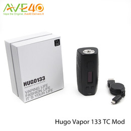 Wholesale Supports E Cigarette - Hugo Vapor 133 TC Box Mod VW Mode E Cigarettes Support 1-133w Out Put Dual 18650 Battery Work together