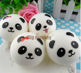 Wholesale Couple Music - New 10CM Kawaii Panda Couple Squishy Cell Phone Charm Bag Charm Phone Straps