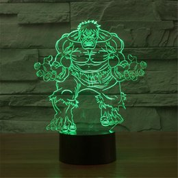 Wholesale Childrens Led Night Lights - Bulbing 3D Hulk LED lamp childrens bedroom home decoration night light camping outdoor T Flashlight Lighting table lamp-24