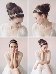 tiaras formais Desconto Flor De Cristal Do Vintage Tiara De Noiva Casamento Tiara Headband da noiva flor acessórios para o cabelo
