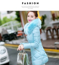 Wholesale New Korean Down Jacket - free shipping Winter new, Korean version, down cotton warm clothes, women's jacket, self-cultivation in the long section, cotton clothing