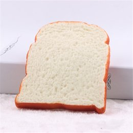 Wholesale Home Scented - 14cm*11.5cm rare squishy toast packages bread home decoration children toys rising scented squishes for sale phone charm
