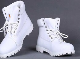 Wholesale Waterproof Wedge Winter Boots Women - Wholesale-Winter White Snow Boots Brand Men Women Genuine Leather Waterproof Outdoor Boots Cow Leather Hiking boot Casual Ankle Martin Boots