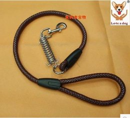 Wholesale Types Leather Harness - Classic multicolor new arrival leather belt high-grade imitation leather cushion type pet dog traction rope leads