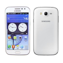 Wholesale Galaxy Grand Duos Wholesale - Samsung GALAXY Grand DUOS I9082 Dual core 3G Unlock Dual Sim Card 5 inch WVGA Screen RAM 1GB ROM 8GB 8MP 2MP original refurbished phone dhl