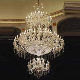 Wholesale Large Traditional Chandelier - High Traditional Large Crystal Chandelier Great Room Elegant Chandelier Designs for Home Large Foyer Chandeliers classical